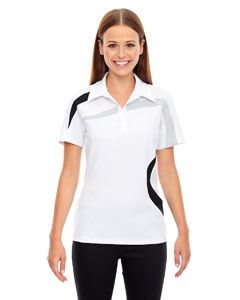 Ash City - North End Ladies Impact Performance Polyester Pique Colorblock Polo