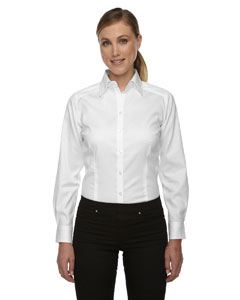 Ash City - North End Ladies Wrinkle-Free Two-Ply 80's Cotton Taped Stripe Jacquard Shirt