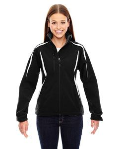 Ash City - North End Ladies Enzo Colorblocked Three-Layer Fleece Bonded Soft Shell Jacket