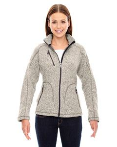 Ash City - North End Ladies Peak Sweater Fleece Jacket