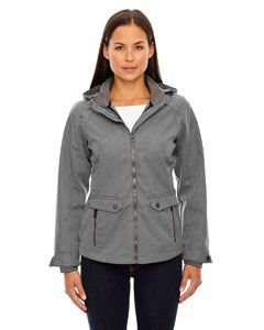 Ash City - North End Ladies Uptown Three-Layer Light Bonded City Textured Soft Shell Jacket