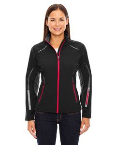 Ash City - North End Ladies Pursuit Three-Layer Light Bonded Hybrid Soft Shell Jacket with Laser Perforation