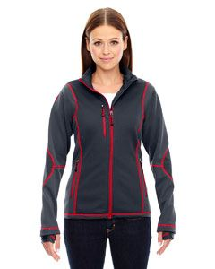 Ash City - North End Ladies Pulse Textured Bonded Fleece Jacket with Print