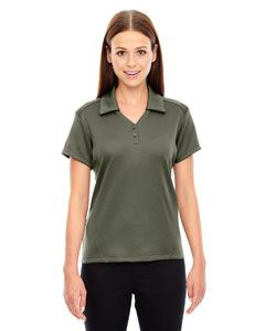 Ash City - North End Ladies Exhilarate Coffee Charcoal Performance Polo with Back Pocket