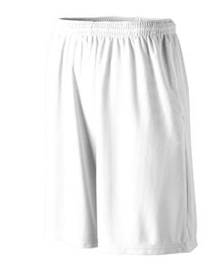 Augusta Drop Ship Longer Length Wicking Short with Pockets