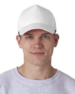 UltraClub Adult Classic Cut Cotton Twill 5-Panel Cap