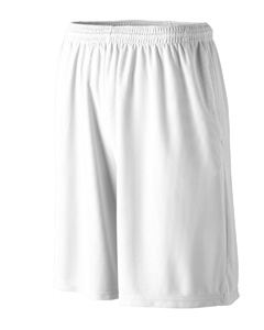 Augusta Drop Ship Youth Longer Length Wicking Short with Pockets