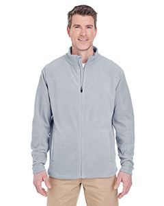 UltraClub Men's Cool & Dry Full-Zip Microfleece