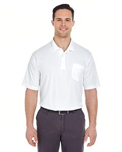 UltraClub Adult Cool & Dry Mesh Pique Polo with Pocket