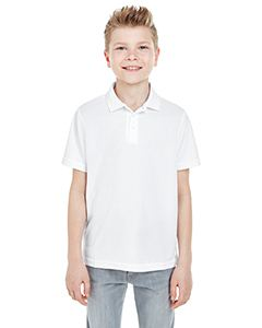UltraClub Youth Cool & Dry Mesh Pique Polo