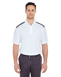UltraClub Adult Cool & Dry Two-Tone Mesh Pique Polo