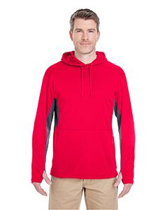 UltraClub Adult Cool & Dry Sport Hooded Pullover