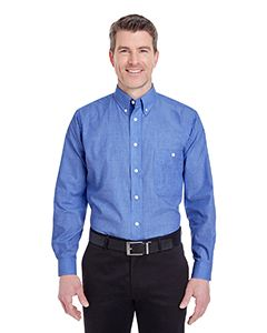 UltraClub Men's Wrinkle-Resistant End-on-End