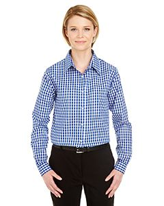 UltraClub Ladies Medium-Check Woven