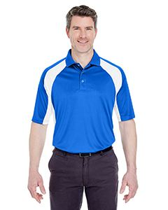 UltraClub Adult Cool & Dry Sport Performance Colorblock Interlock Polo
