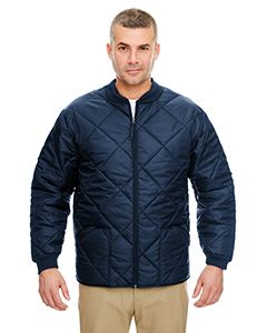 UltraClub Adult Puffy Workwear Jacket with Quilted Lining