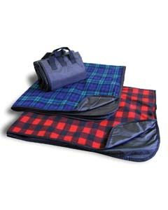 Liberty Bags Drop Ship Fleece/Nylon Plaid Picnic Blanket