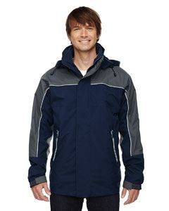 Ash City - North End Adult 3-in-1 Seam-Sealed Mid-Length Jacket with Piping