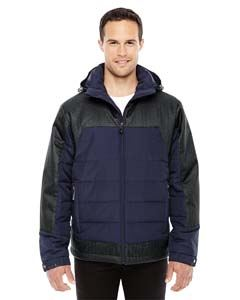Ash City - North End Men's Excursion Meridian Insulated Jacket with Melange Print