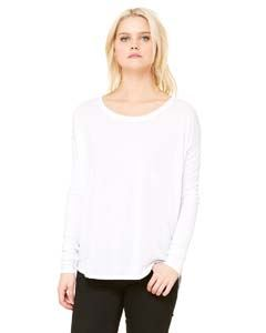 Bella + Canvas Ladies Flowy Long-Sleeve T-Shirt with 2x1 Sleeves