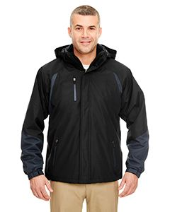 UltraClub Adult Colorblock 3-in-1 Systems Hooded Jacket