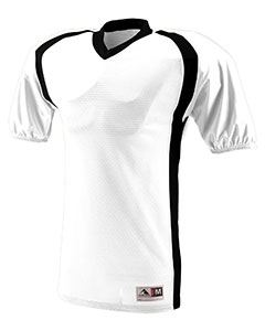 Augusta Drop Ship Adult Polyester Diamond Mesh V-Neck Jersey with Contrast Side Inserts