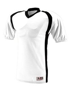 Augusta Drop Ship Youth Polyester Diamond Mesh V-Neck Jersey with Contrast Side Inserts