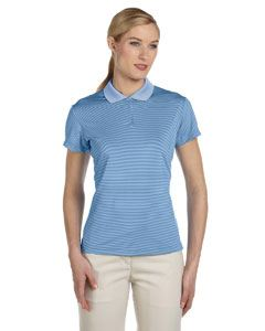 adidas Golf Ladies climalite Classic Stripe Short-Sleeve Polo