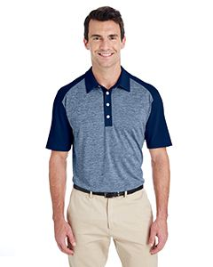 adidas Golf Men's Heather Block Polo