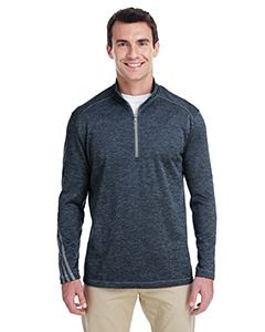 adidas Golf Men's 3-Stripes Heather Quarter-Zip