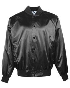 Augusta Drop Ship Adult Satin Baseball Jacket with Solid Trim