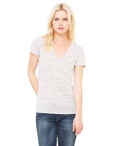 Bella + Canvas Ladies Jersey Short-Sleeve Deep V-Neck T-Shirt