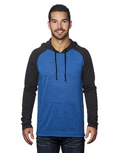 Burnside Adult Raglan Sleeve Striped Jersey Hooded T-Shirt