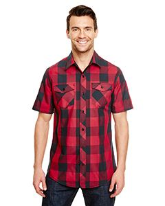 Burnside Mens Buffalo Plaid Woven Shirt