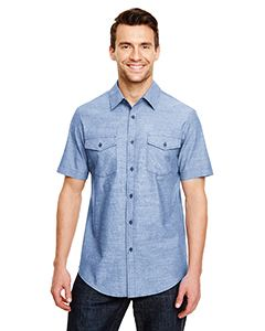 Burnside Mens Chambray Woven Shirt