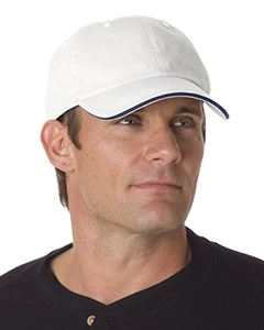 Bayside Washed Cotton Unstructured Sandwich Cap