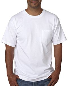 Bayside Adult Short-Sleeve T-Shirt with Pocket