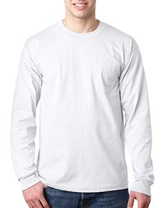 Bayside Adult Long-Sleeve T-Shirt with Pocket
