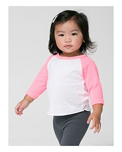 American Apparel Infant Poly-Cotton 3/4-Sleeve T-Shirt
