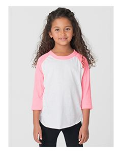 American Apparel Toddler Poly-Cotton 3/4-Sleeve T-Shirt