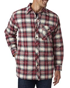 Backpacker Men's Tall Flannel Shirt Jacket with Quilt Lining