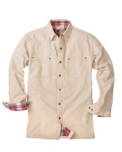 Backpacker Men's Canvas Shirt Jacket with Flannel Lining