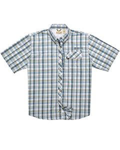 Backpacker Men's Tall Sport Utility Short-Sleeve Plaid Shirt