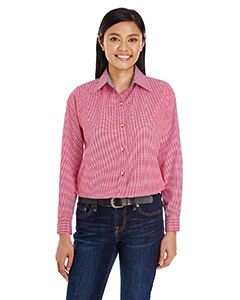 Backpacker Ladies Yarn-Dyed Micro-Check Woven