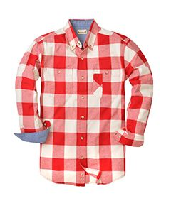 Backpacker Men's Tall Yarn-Dyed Long-Sleeve Brushed Flannel