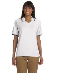Devon & Jones Ladies Tipped Perfect Pima Interlock Polo