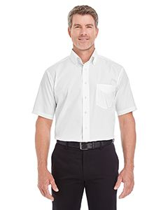 Devon & Jones Men's Crown Woven Collection Solid Broadcloth Short-Sleeve Shirt