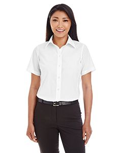 Devon & Jones Ladies Crown Woven Collection Solid Broadcloth Short-Sleeve Shirt