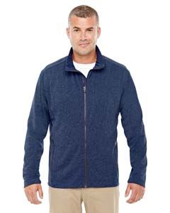 Devon & Jones Men's Fairfield Herringbone Full-Zip Jacket
