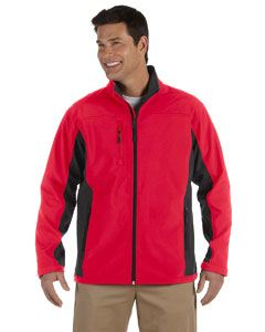 Devon & Jones Men's Soft Shell Colorblock Jacket
